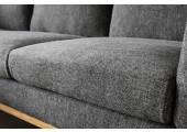 canapé d'angle scandinave norden gauche gris foncé
